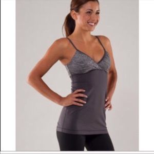 Lululemon Embrace Tank Coal Gray Adjustable Straps